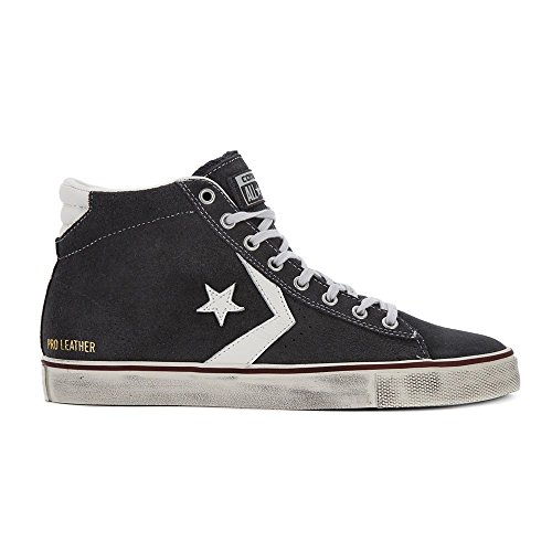 Chaussures Converse Pro Cuir Vulc Mid Suede Distressed Mainapps Gris