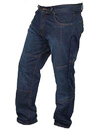 Newfacelook Hommes Motorcycle Moto Pantalon Motards Jeans Renforcée Aramide Protection color Bleu size