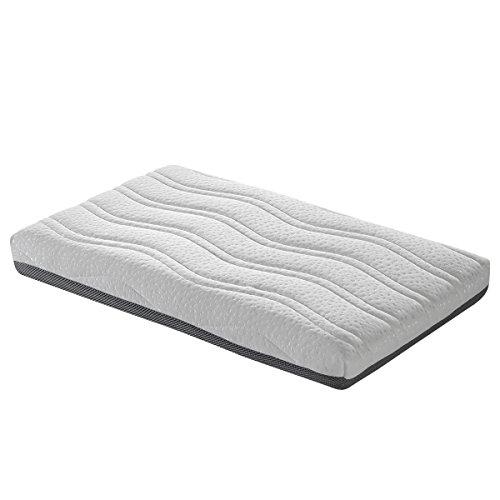 SleepAA Colchon minicuna 80x50 cm Viscoelastico Desenfundable 2 Caras Verano/Invierno Adaptable Transpirable Recién nacido Antiácaros Fabricado en España
