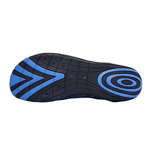 Strandschuhe Schwimm Badeschuhe Wasserschuhe Surfschuhe für Damen Herren Kinder Blau