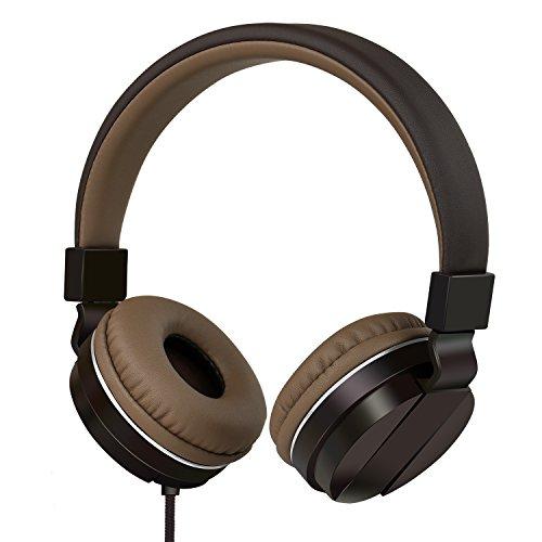 Gorsun Leistungsfähiges On-Ear-Kopfhörer mit Geräuschisolierung und Superior Sound, STAMPFENDEN Bass, klare Höhen, bequem, strapazierfähig und elegant Konstruktion, mit Lautstärke- und Inline-Mikrofon, Playback und Pause