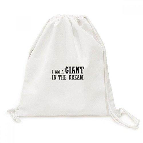 DIYthinker Ich bin ein Riese in Dem Traum-Leinwand-Rucksack-Reisen Shopping Bags (Riesen Bin Ich)
