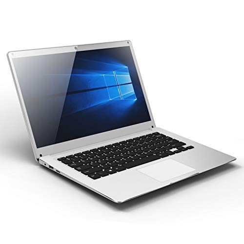 14 Zoll Notebook Windows 10 - Winnovo V146 Laptop Intel Atom Quad Core 4GB RAM + 32GB Festplatte, SD Kartenspeicher Erweiterung, 1920x1080 IPS Display, WLAN, Bluetooth, Akku 10000 mAh, Silber-MEHRWEG