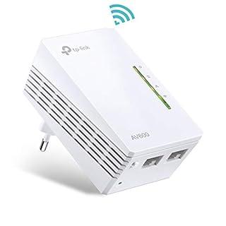 TP-Link TL-WPA4220 AV600 WiFi N300 Powerline Netzwerkadapter(300 Mbit/s, 2 Ports, Plug & Play, Kompatibel mit Adaptern anderer Marken) weiß
