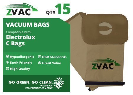 Electrolux Microlined Canister C Vacuum Bags - 15 Pack - Made by ZVac by GoVacuum