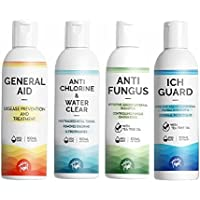 Whole Treat Complete Aquarium Solution (4 in 1 Pack) Water Cleaner, Anti Fungus, Itch Guard, General Aid 100ml Each