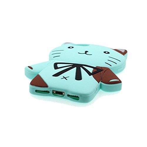 iPhone 7 Copertura,iPhone 7 Custodia,cactus del fumetto 3D bella copertura molle della cassa del silicone di TPU della pelle protettiva della pelle Case cover per iPhone 7 4.7 inch blu