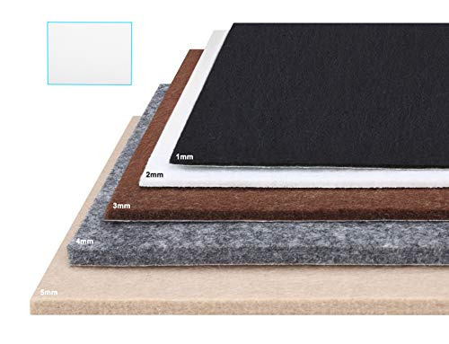 Materiales De Bricolaje Casa, Jardín Y Bricolaje Sensible Tira De 12 Redondo Almohadillas Fieltro Autoadhesivo 25mm Diámetro 4mm Grueso