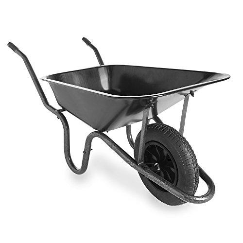 vonhaus-85l-heavy-duty-wheelbarrow-large-steel-framed-garden-cart-with-14-pneumatic-tyre-100kg-capac