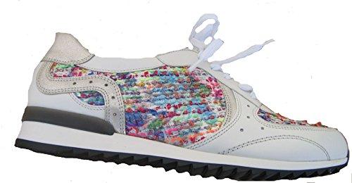Waldläufer 370005-302-663 Hurly Damen Sneaker Weite H auch für lose Einlagen Silber Multi
