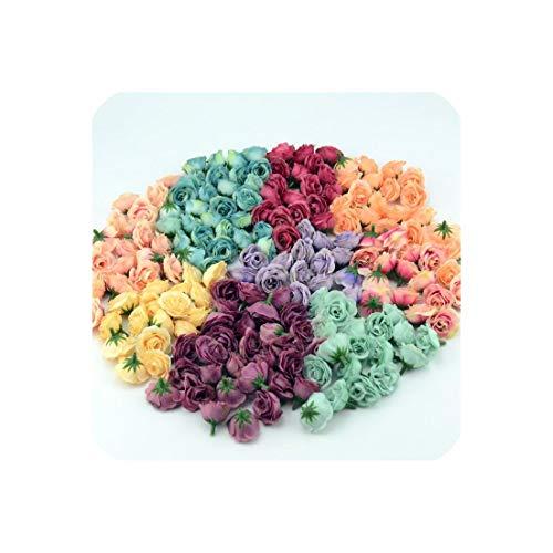 MMagma artificial-flowers 50 stücke 2 5 cm Mini Silk künstliche Rose Blumen Tuch für Hochzeit Hause raumdekoration DIY Kleid zubehör gefälschte Blumen Mix