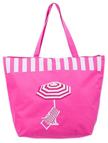 Borsa da Mare Borse Spiaggia Donna Sdraio/Ombrellone Modello Airee Fairee Rosa