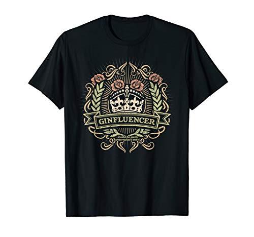 Gin T Shirt Ginfluencer | Spruch | Geschenkidee -