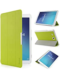 iHarbort® Samsung Galaxy Tab E 9.6 Coque Étui Housse - Ultra Slim étui Housse Cuir Coque avec Support pour Samsung Galaxy Tab E 9.6 pouce T560 T565 Cover Case housse Pochette Stand (Galaxy Tab E 9.6, vert)