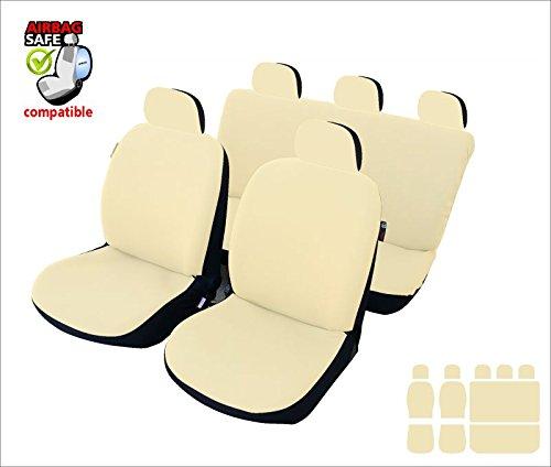 akhan-tuning Akhan sb621–Set coprisedili per auto, fodere Coprisedili con airbag laterale, colore: nero/beige