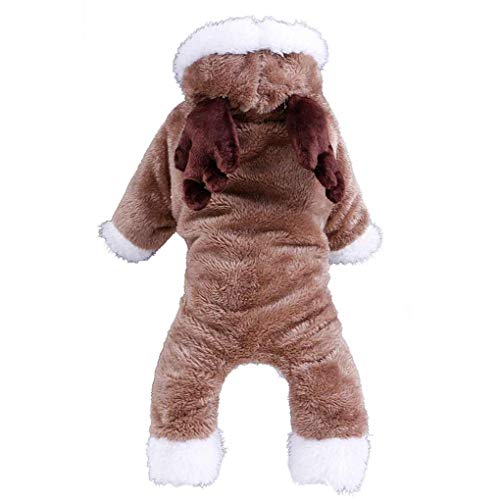 Morza Weihnachten Deer Antlers Warme Fleece-Welpen-Hundekleidung Netter Anchor-Mantel-Schaf-Kostüm Haustier Kostüme Kleidung für Hunde Haustiere (Schaf Kostüm Für Hunde)