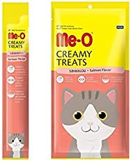 Perfect Companion Me-O Creamy Treats for Cats and Kittens Pack of 12 (Salmon)