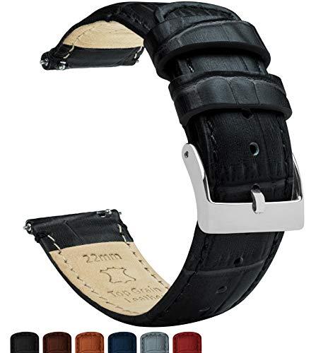 Barton Alligator Grain - Cinturino in pelle a sgancio rapido, colori a...