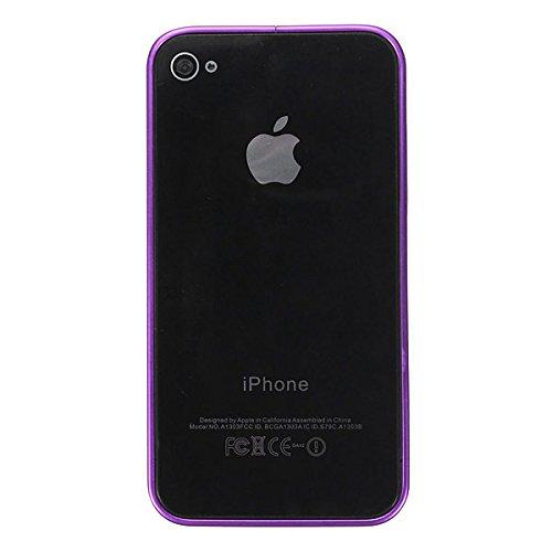 """0.7mm Ultre mince Bumper cadre bo""""tier en aluminium en mŽtal pour l'iPhone 4 4S rose rouge"""