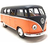 """1962 Classical Bus Matte Finish Black Top Kinsmart 5"""" 1:32 Scale Diecast Model Bus Door Openable And Pull Back Action From Flying Toyszer"""