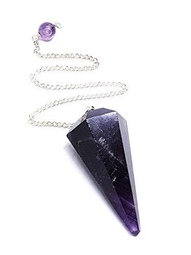 Eclectic shop uk ametista sfaccettato cristallo pendulum reiki charged dowsing divination gemma