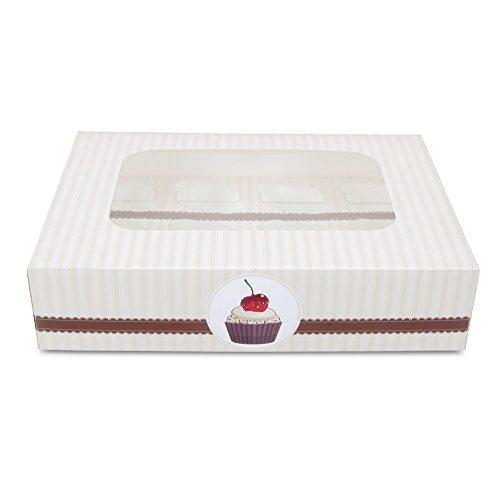Staedter Haus Café Muffin und Cupcake-Box für 12Tassen-Set, Mehrfarbig, 2-teilig