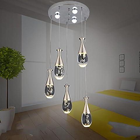 MJCOO Moderno acrilico creativo teardrop-a forma di led Lampadario minimalista sala da pranzo soggiorno
