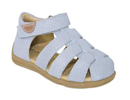 MOVE Unisex Sandale, Sandales Bride cheville mixte enfant Bleu - Blau (Light Blue204)