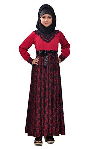 East Essence - Robe - Manches Longues - Femme Rouge - Bordeaux