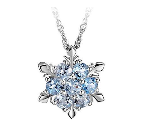 Hosaire 1 Stück Halskette Ketten Mode Hexagon Kristall Necklace Anhänger Kette