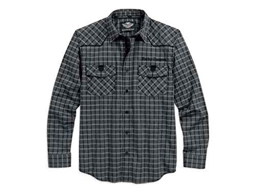 Harley Davidson Hemd Yoke, L - Snapdown Shirt