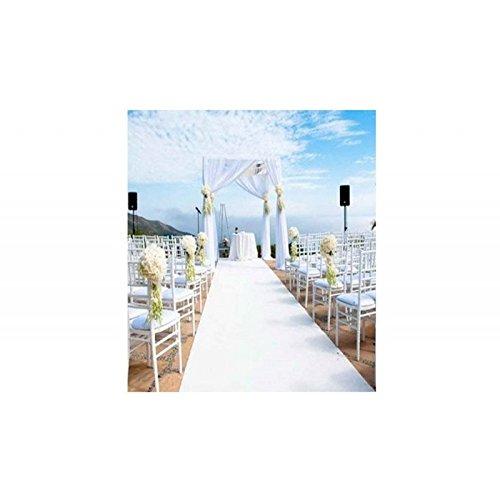 weiß 1 x 15 m Hochzeitsteppich Läufer Eventteppich Kirche ()