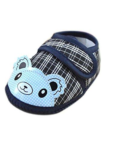 LCLrute Qualitäts Neugeborenes Mädchen-Jungen-weiche alleinige Krippe-Kleinkind-Schuh-Segeltuch-Turnschuh (11) (12) (Wildleder-boot Manschette)