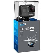 GoPro Hero5 Black - Cámara Deportiva DE 12 MP (4K, 1080p, WiFi + Bluetooth, Control por Voz, Pantalla Táctil)