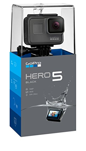 GoPro Hero5 Black - Cámara deportiva de 12 MP (4K, 1080p, WIFI + Bluetooth, control por voz, pantalla táctil), color...