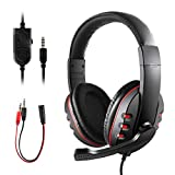 Gaming Headset for PS4 Xbox One, JAMSWALL 3.5mm Wired Over-head Stereo Gaming Headset Headphone with Mic Microphone, Volume Control for SONY PS4 PC Tablet Laptop Smartphone Xbox One