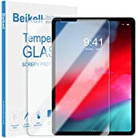 "Screen Protector for iPad Pro 11"" 2018, Beikell Premium Tempered Glass Screen Protectors for iPad Pro 11 inch - 9H Hardness, Anti Scratch, No Bubbles, High Definition, Easy To Apply, Case Friendly"