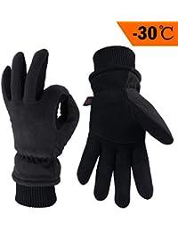 cf6d4f79ab24e8 OZERO Winter Lederhandschuhe,Thermo-Handschuhe für Herren und Damen,1 Paar