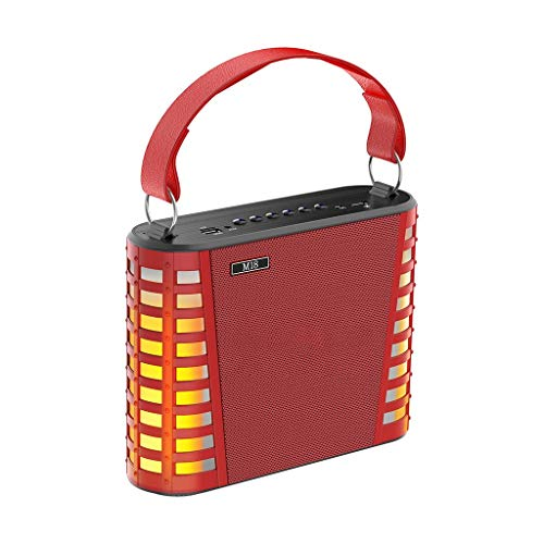 MA87 Bluetooth singender Lautsprecher mit Mikrofon  Diakritische Doppellautsprecher tragbar (Rot)
