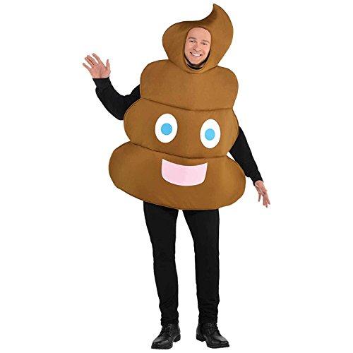 Emoji -Poop- Kostüm Erwachsene Gr. (Emoji Kostüm)