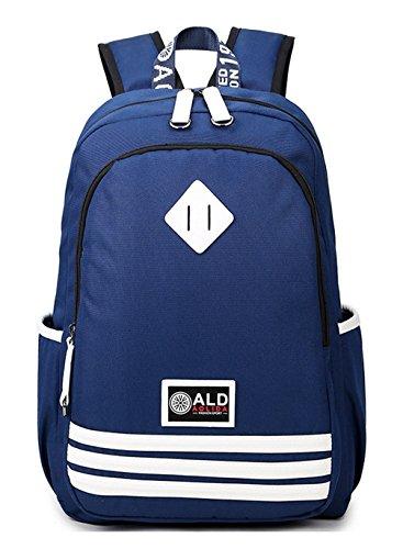 934b1699aee86 Longzibog Einfache und Modedesign Nie aus der Mode Mode Maedchen Rucksack  Schulranzen Tiefblau