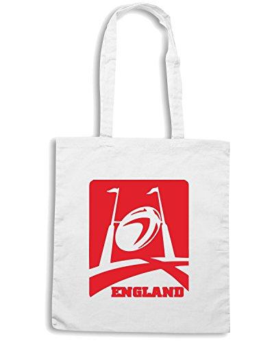 T-Shirtshock - Borsa Shopping TRUG0011 england rugby logo Bianco