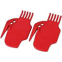 BQLZR, battente in plastica, colore: rosso-Spazzola a