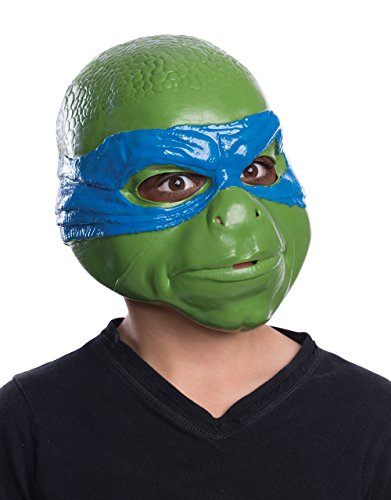 Leonardo Movie Mask, Kids Teenage Mutant Ninja Turtle Costume Accessory (Leonardo Mutant Ninja Turtle Kostüm)