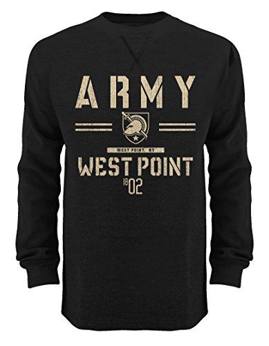 Old Varsity Brand NCAA Herren LS Thermo Crew, Herren, Thermal Crew, schwarz, X-Large -