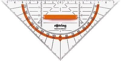 rOtring Centro-Geometrie-Dreieck mit Griff (16cm)