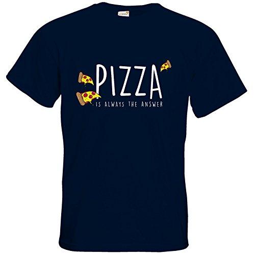 getshirts - Crapwaer - T-Shirt - Pizza Navy