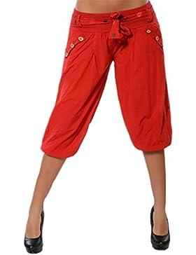 Hellomiko Pantalones Harem de mujer Pantalones de harén Pantalones de verano de Yoga de playa Aladdin con pantalones...