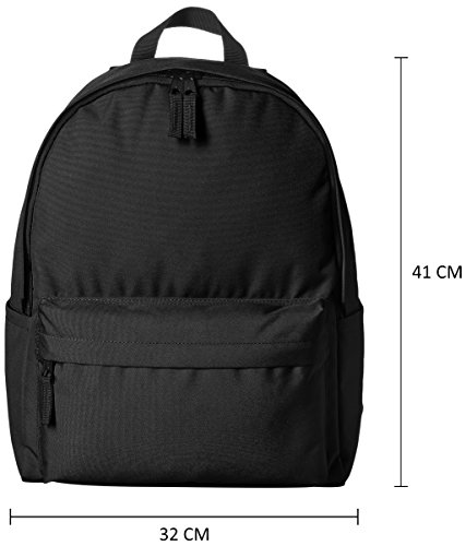 Best womens leather backpack in India 2020 AmazonBasics 21 Ltrs Classic Backpack - Black Image 3