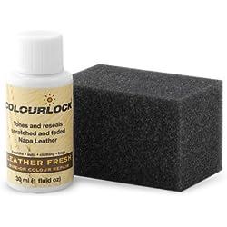 Tinte reparador cuero/piel F034 (NEGRO), 30 ml Colourlock® restaura el color del cuero en coches, sofás, ropa, bolsos